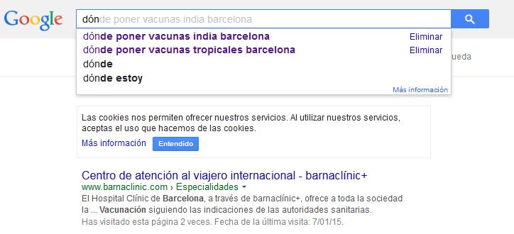 vacunas google