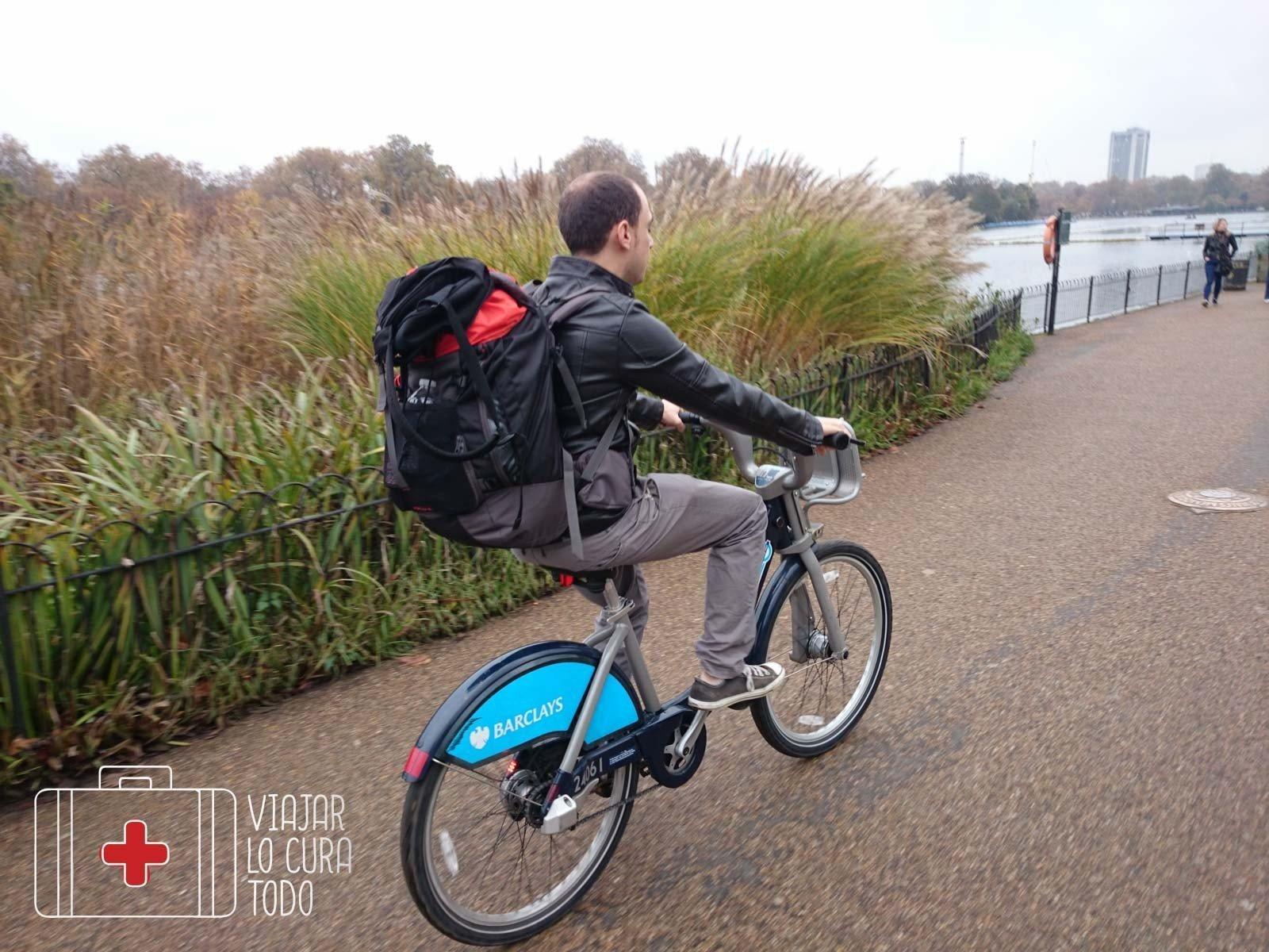 En bici por Hyde Park