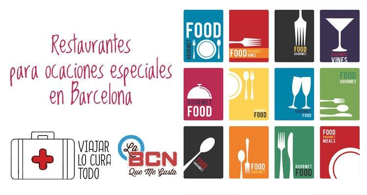 Restaurantes para ocasiones especiales en Barcelona