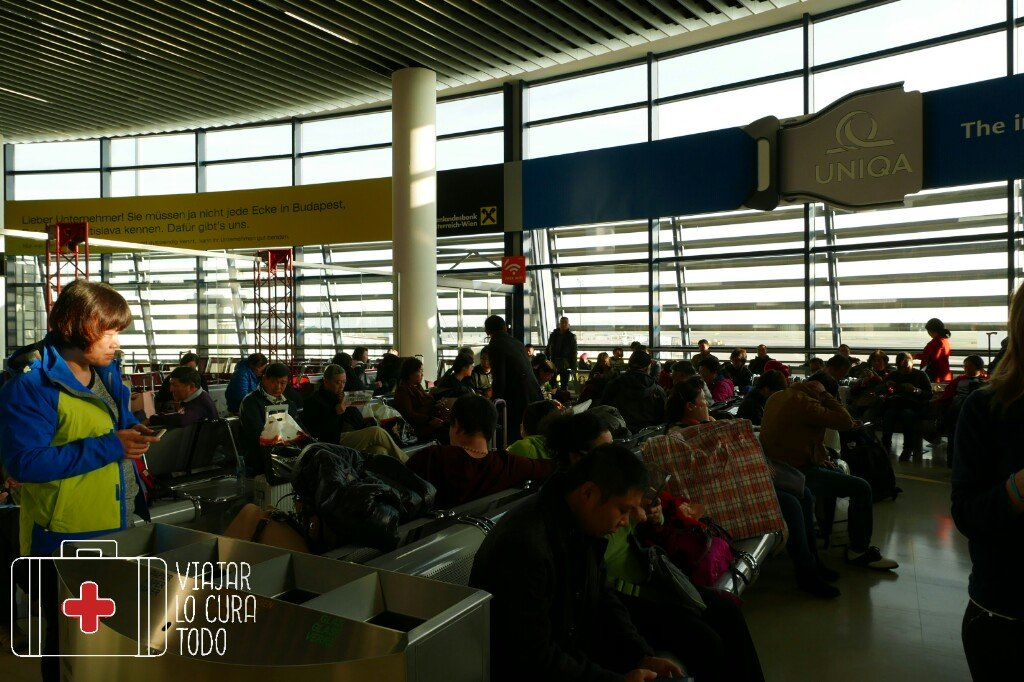Sala de espera del aeropuerto de Viena