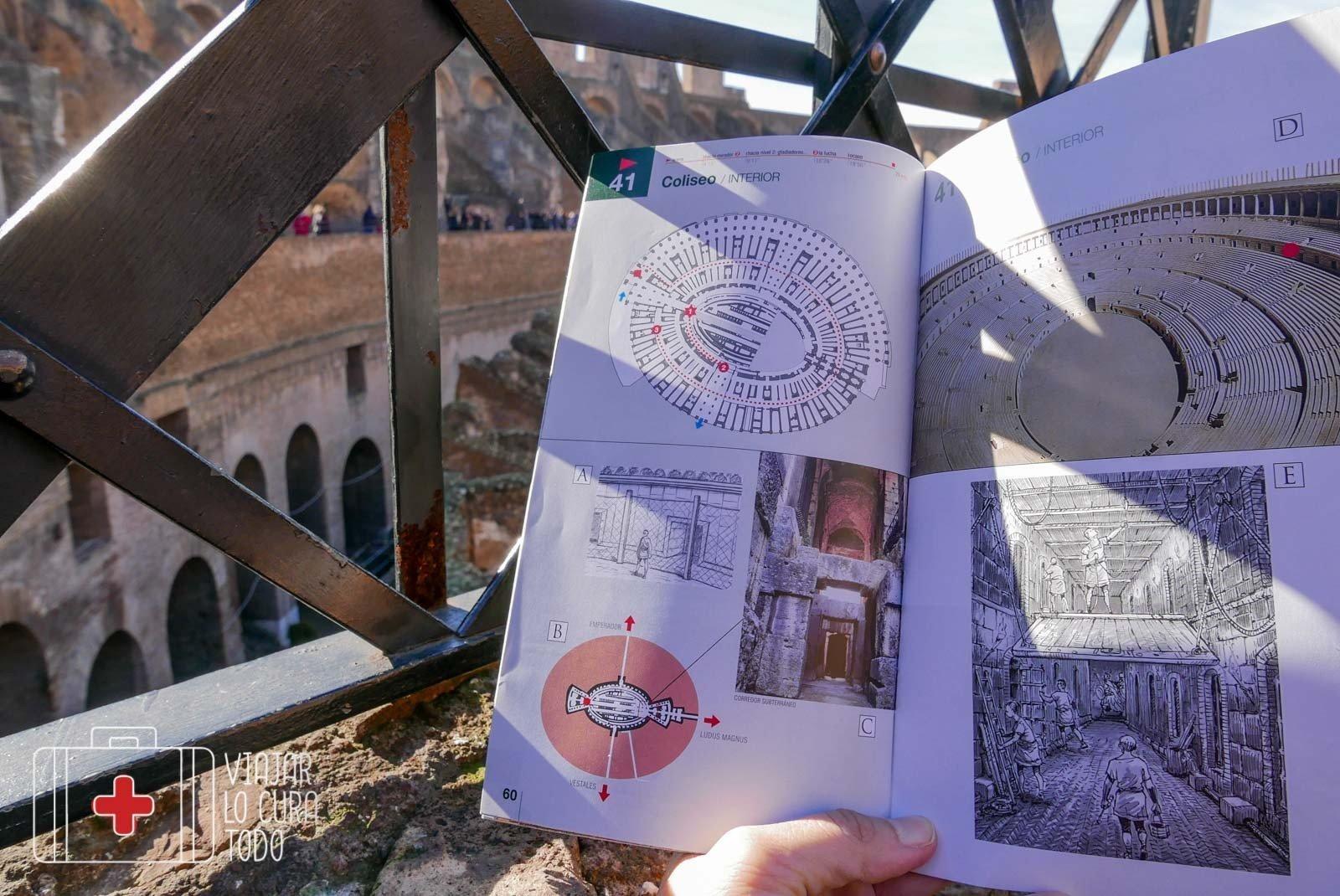 Dibujos de la guia en el capítulo del Colosseo