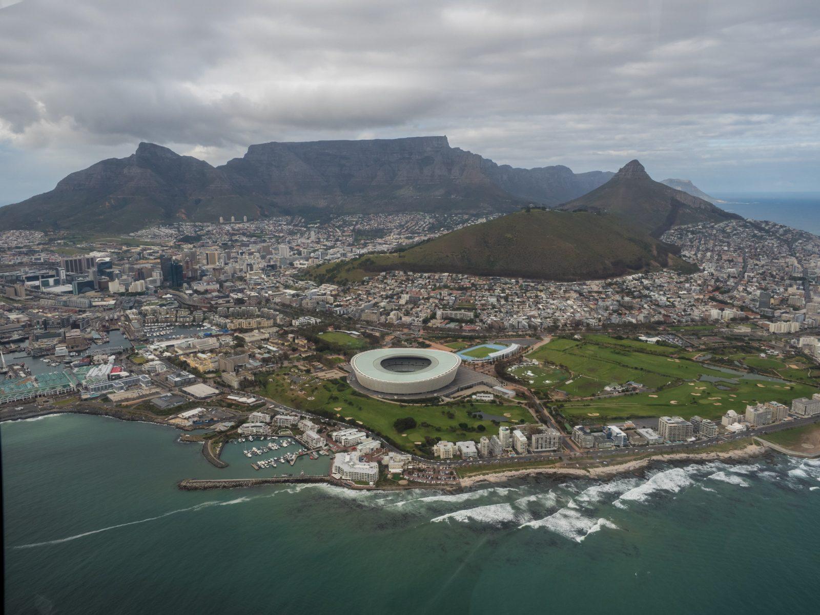 Volar en helicóptero en Ciudad del Cabo