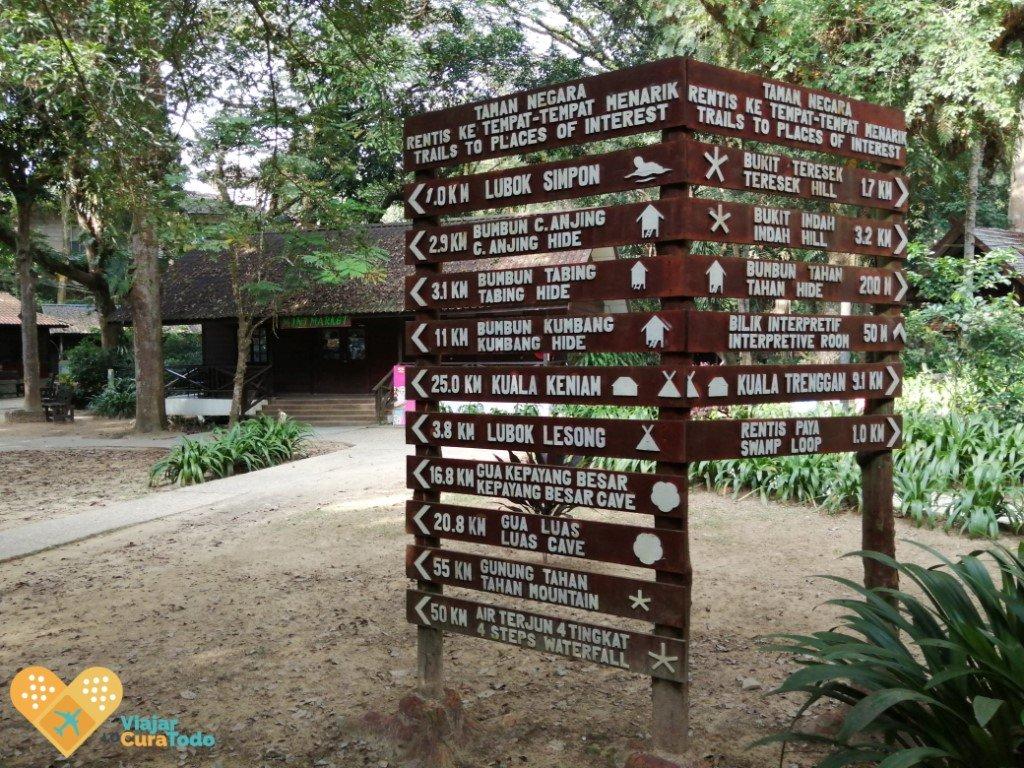 señalización de Taman Negara