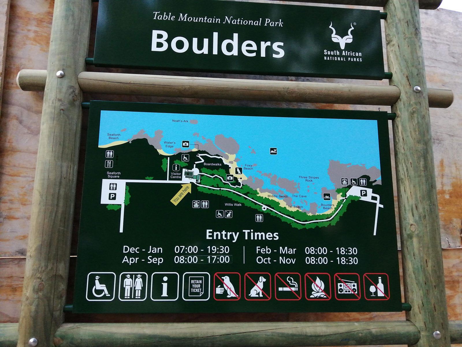 boulders beach itineraries