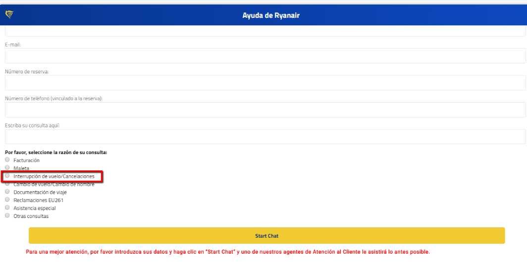 cancelaciones covid ryanair