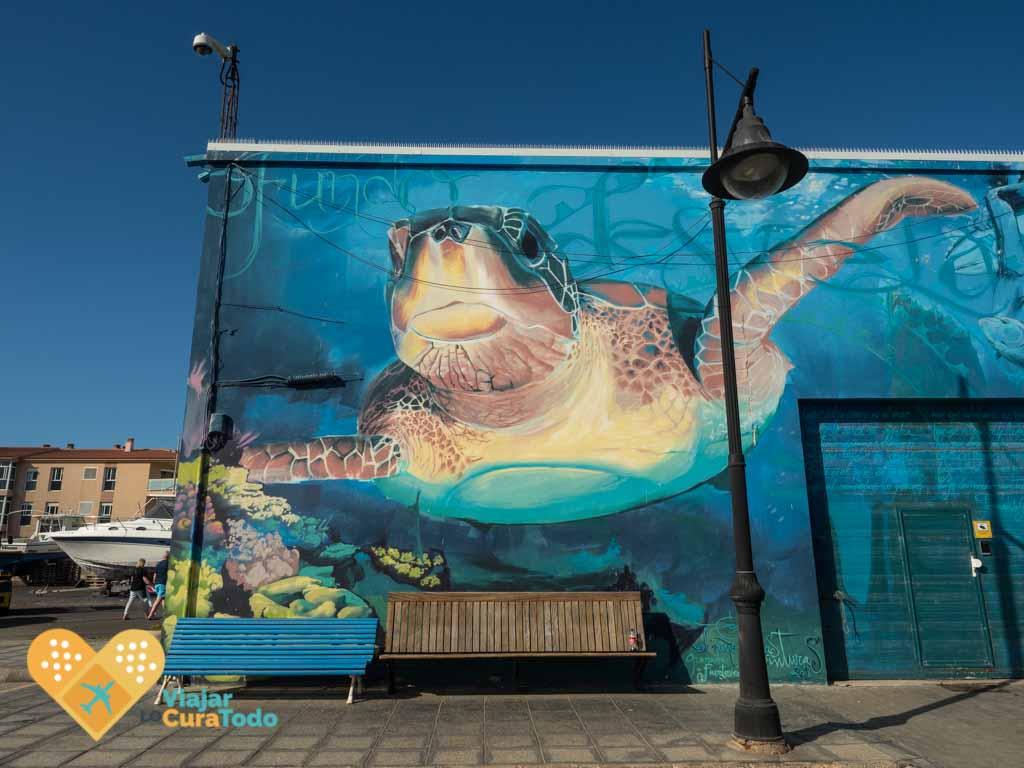 mural puerto corralejo fuerteventura