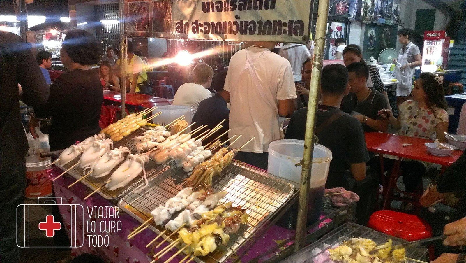 Comida sin identificar en Bangkok