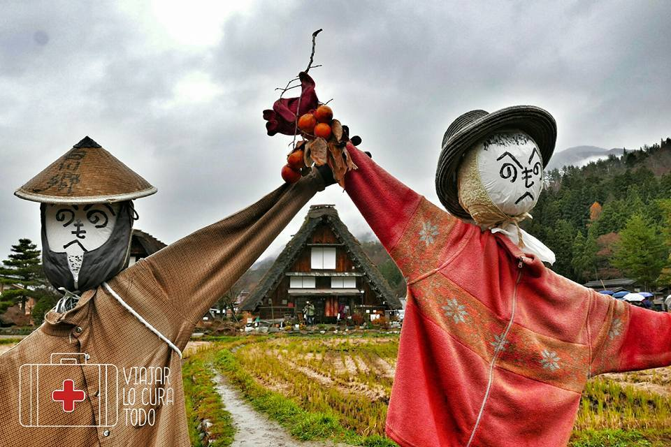 Espantapágaros en Shirakawa-go