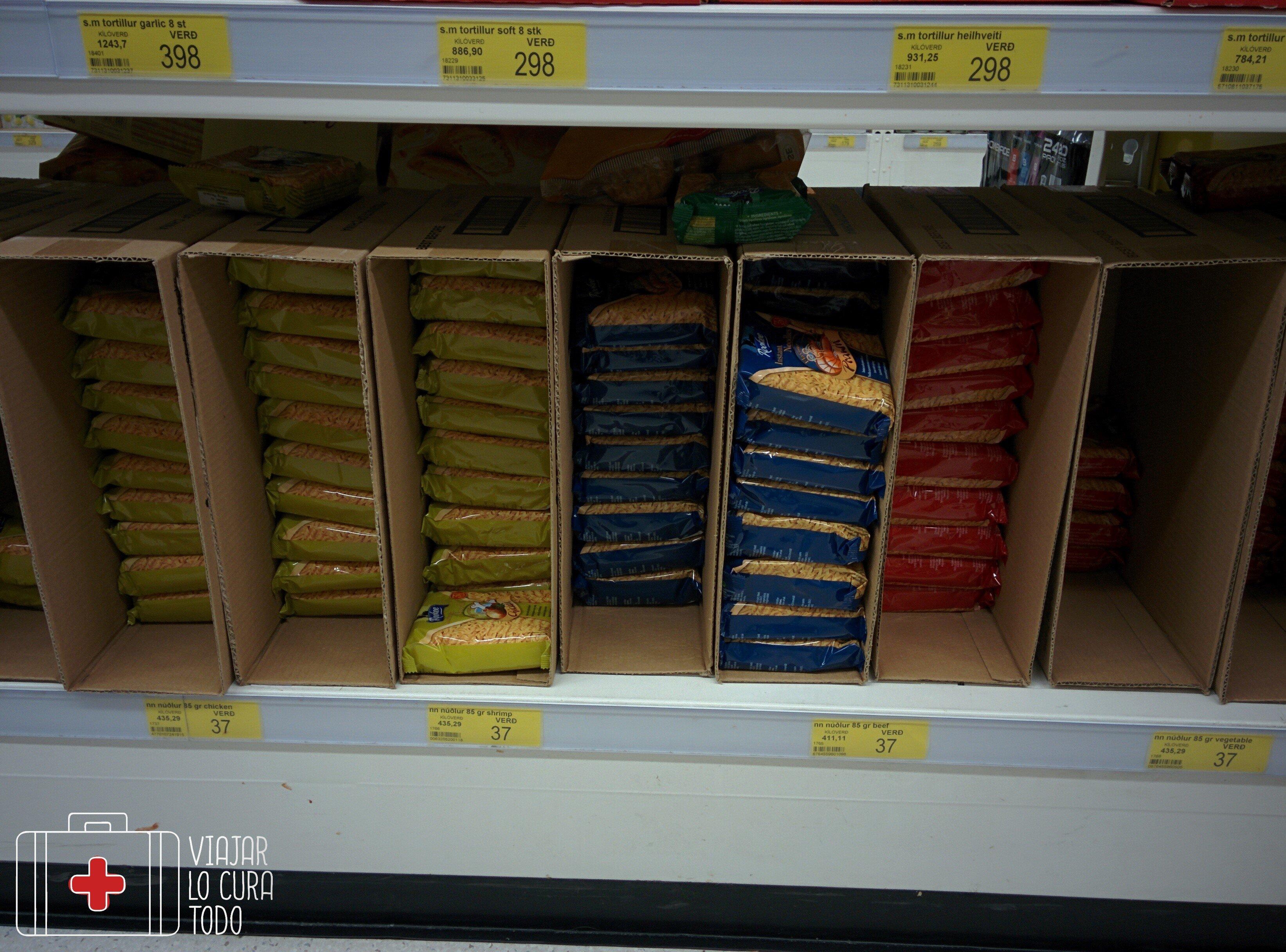 Paquetes de noodles instantaneos más baratos que en casa