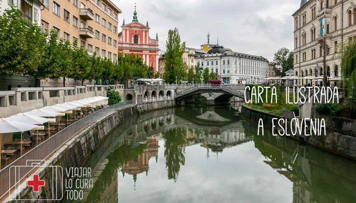 Carta ilustrada a Eslovenia