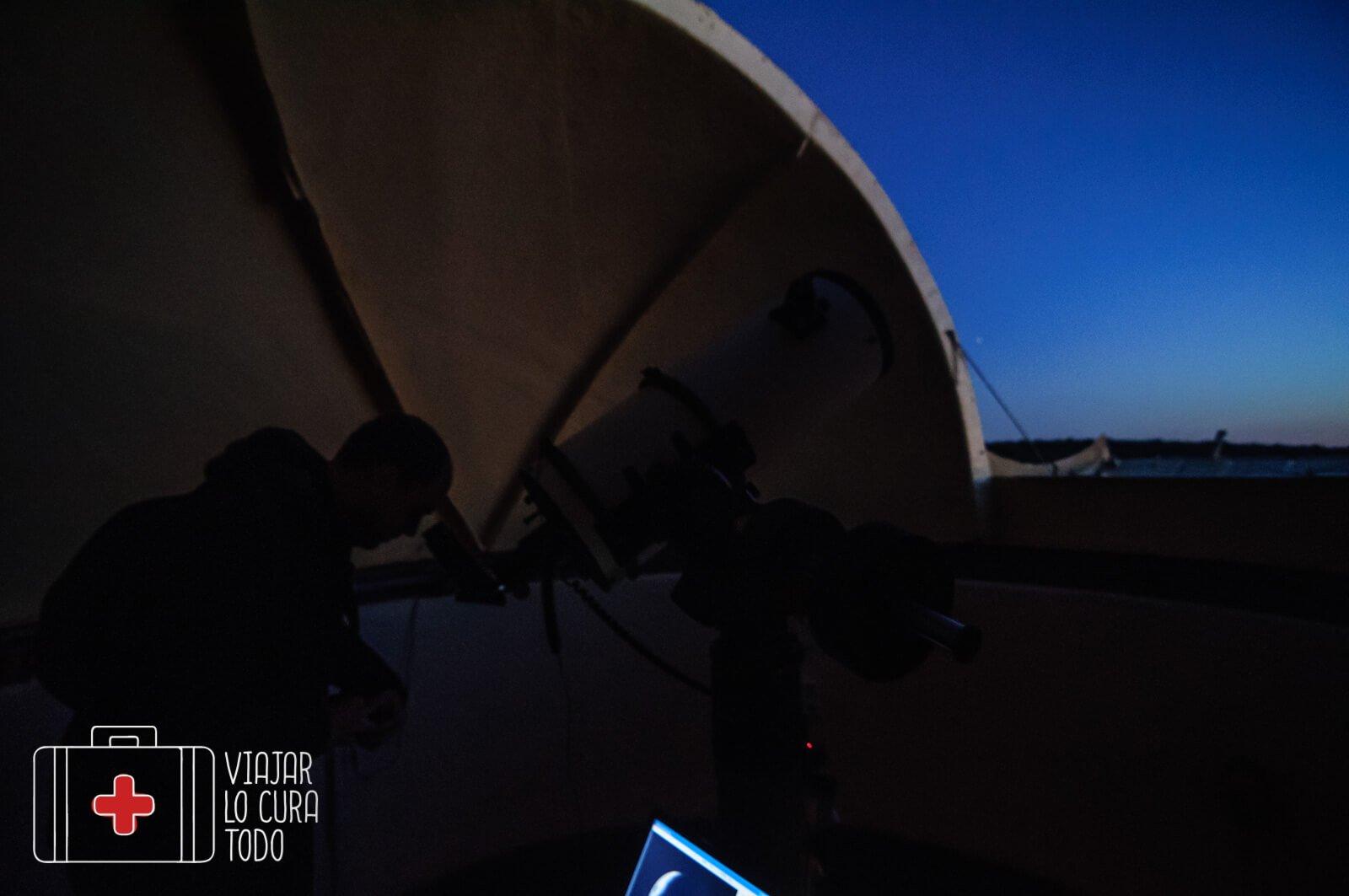 observación telescopio
