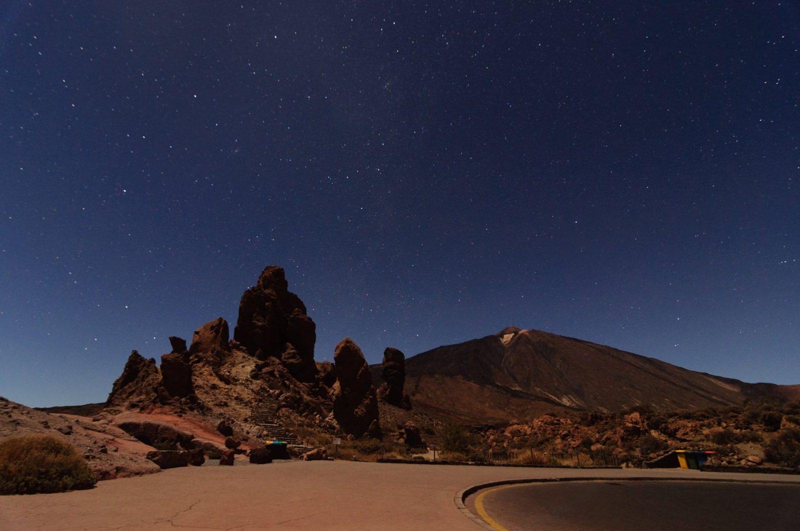 Atardecer y estrellas en Tenerife