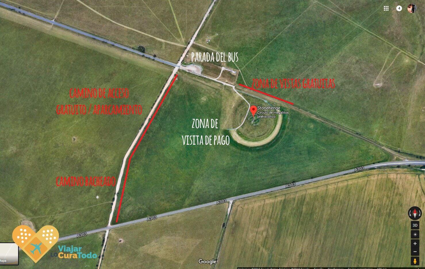 como visitar stonehenge gratis