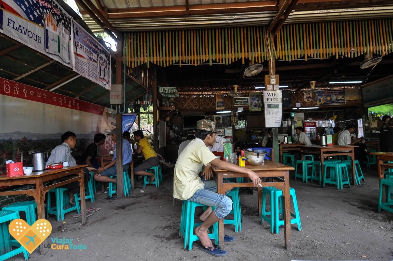 restaurante típico Myanmar