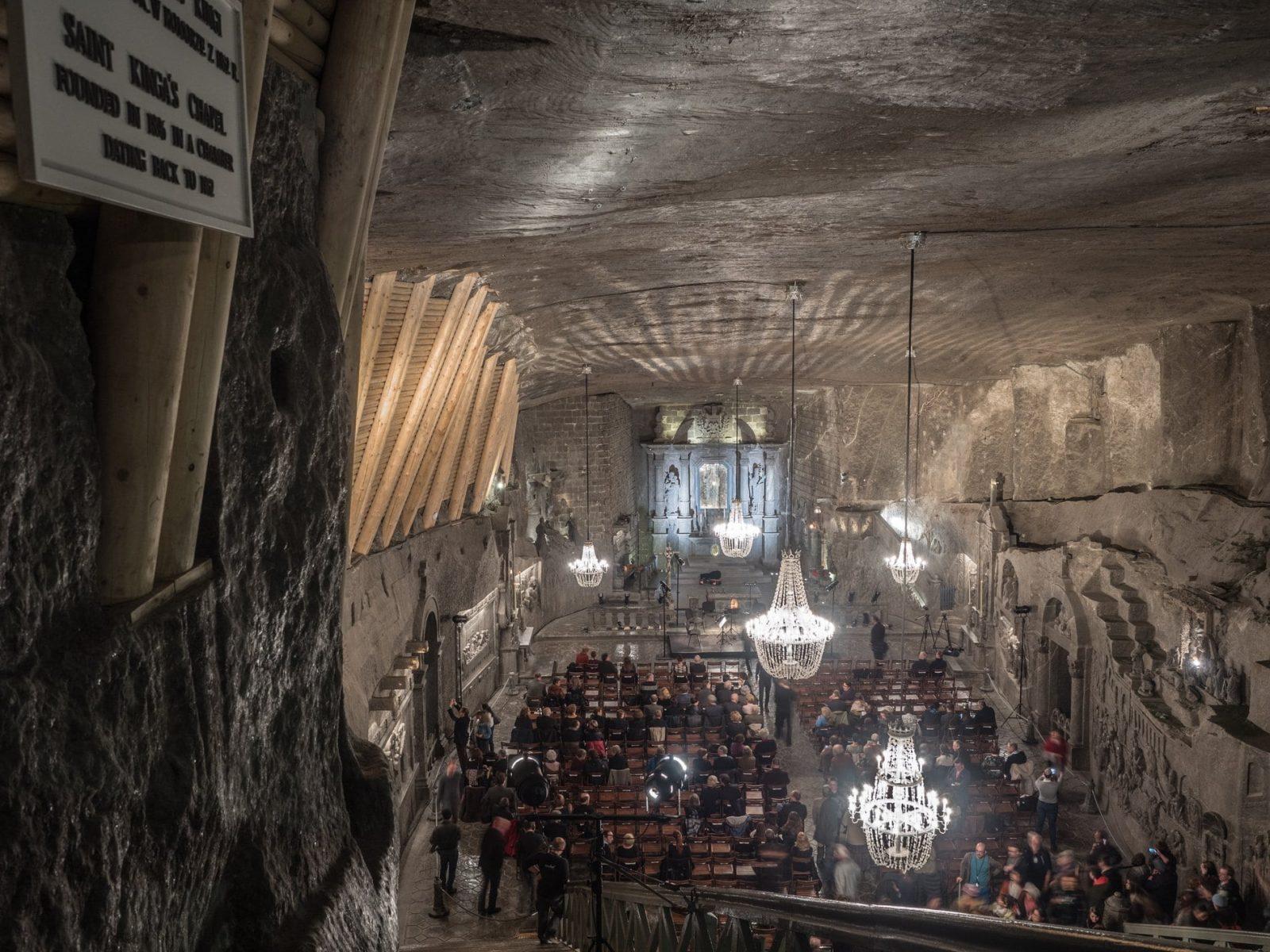 La mina de sal de Wieliczka en Cracovia