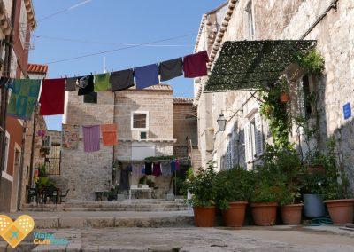 calle típica de Dubrovnik