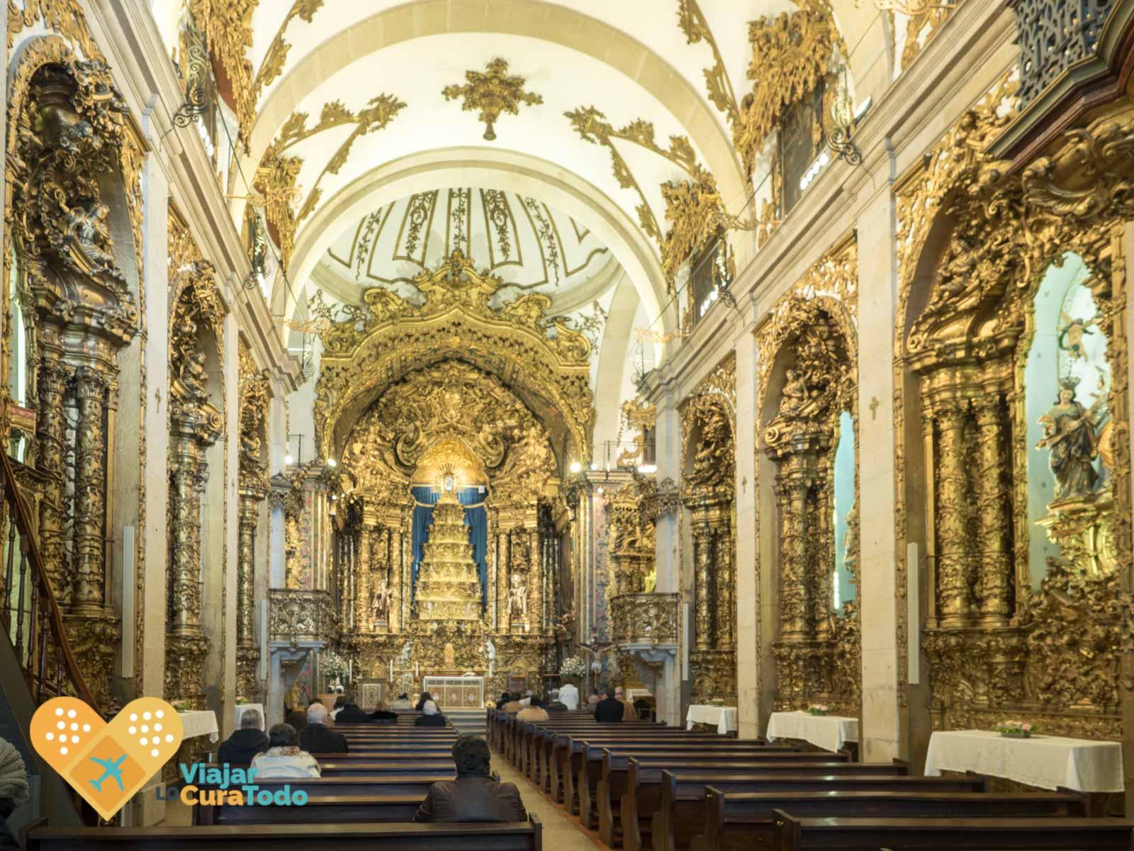 interior iglesia del Carmen Porto