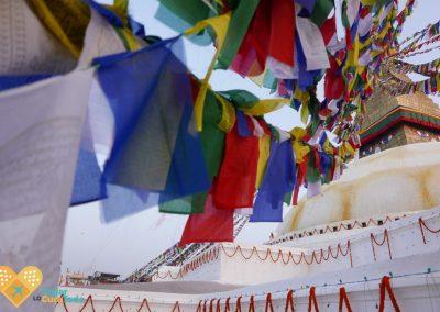 banderas budistas en pagoda Katmandu
