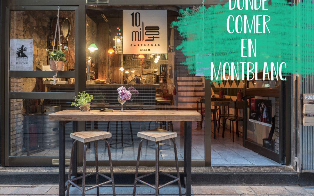 Dónde comer en Montblanc