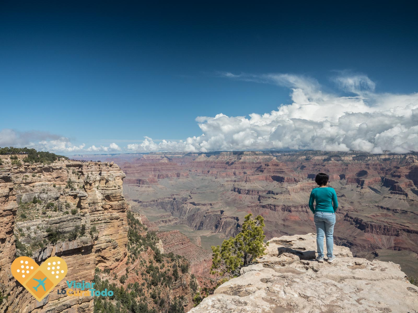 chica al borde del Grand Canyon