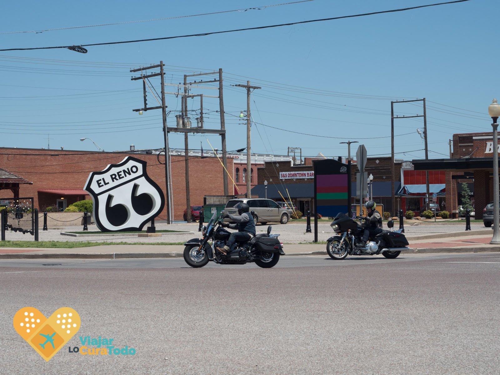 escudo ruta 66 El Reno