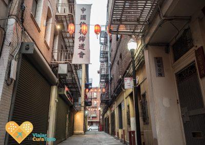 callejón chinatown farolillos