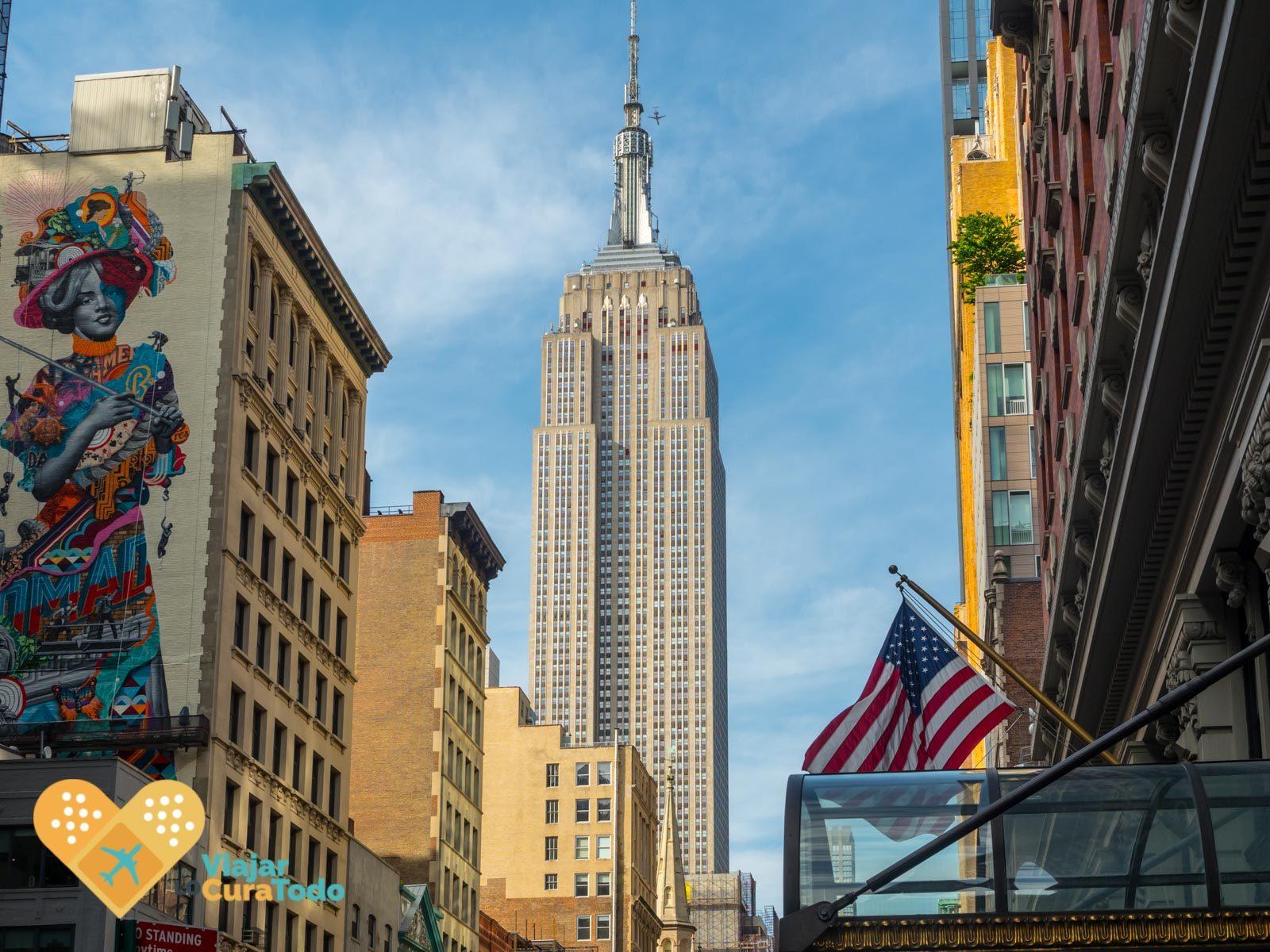 estampa de nueva york desde la 5a avenida