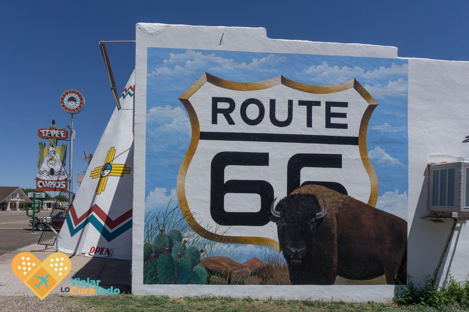 tucumcari route 66 mural