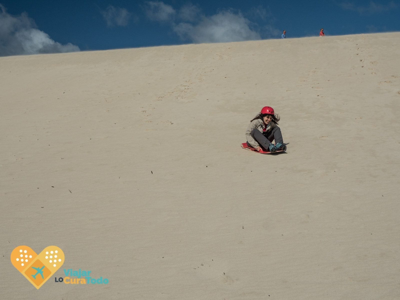 sandboarding little sahara