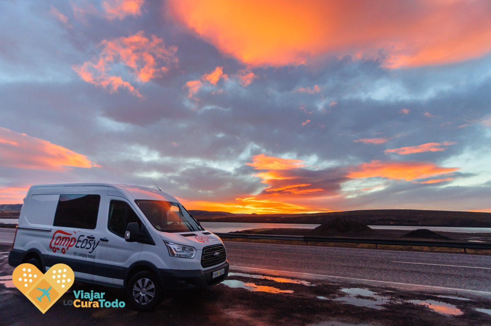Amaneceres infinitos de Islandia