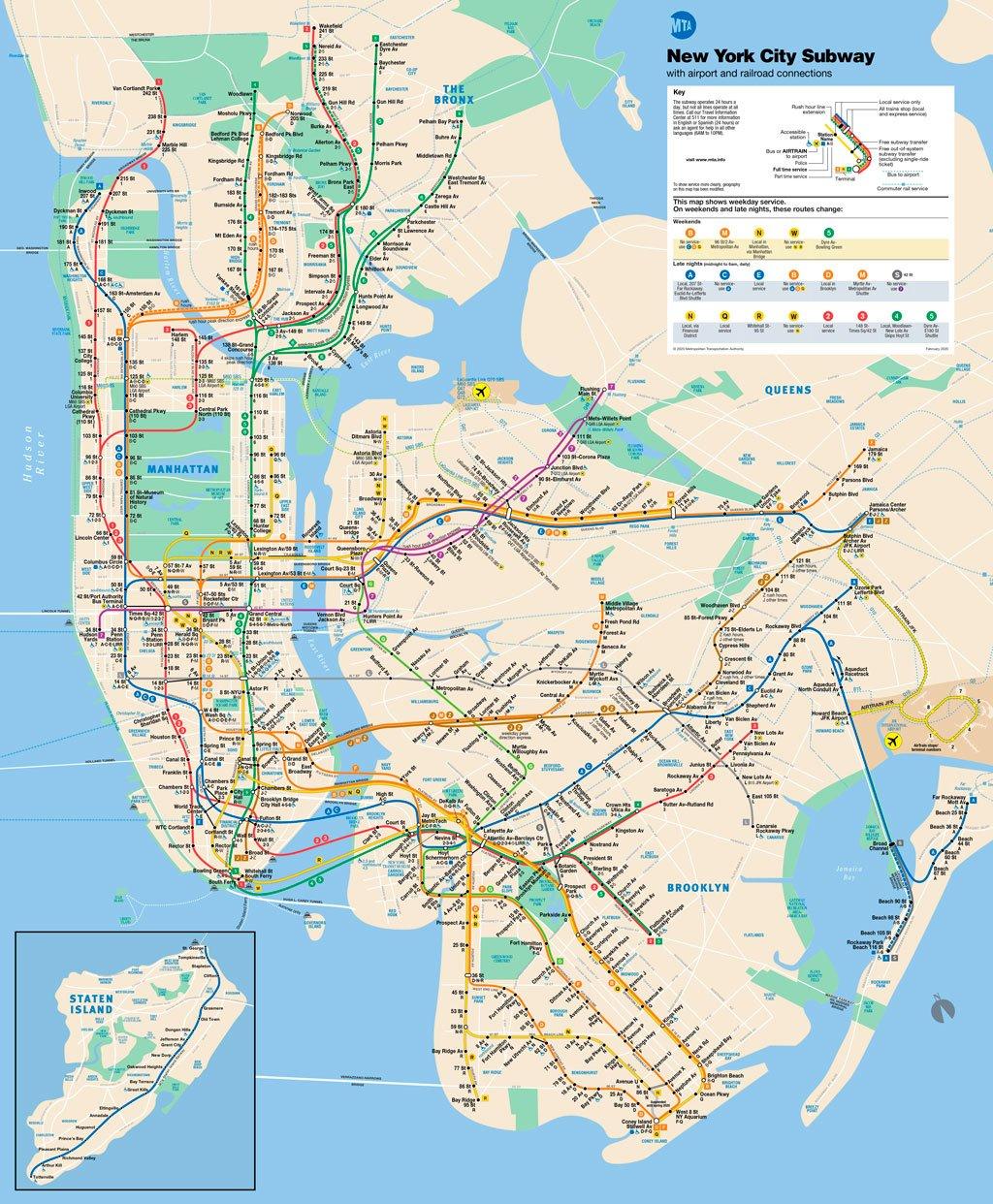 mapa metro nueva york