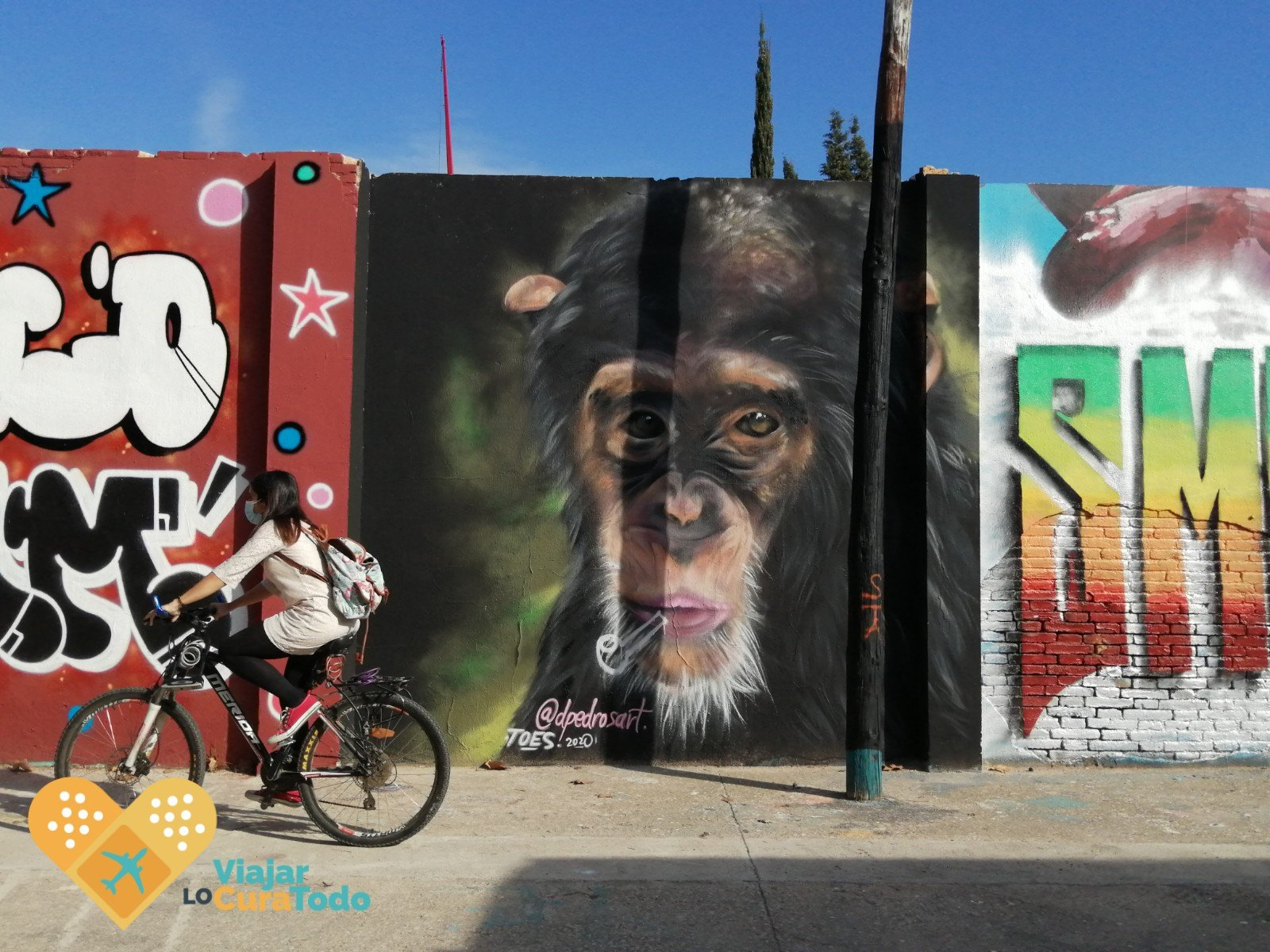 murales poblenou en bicicleta